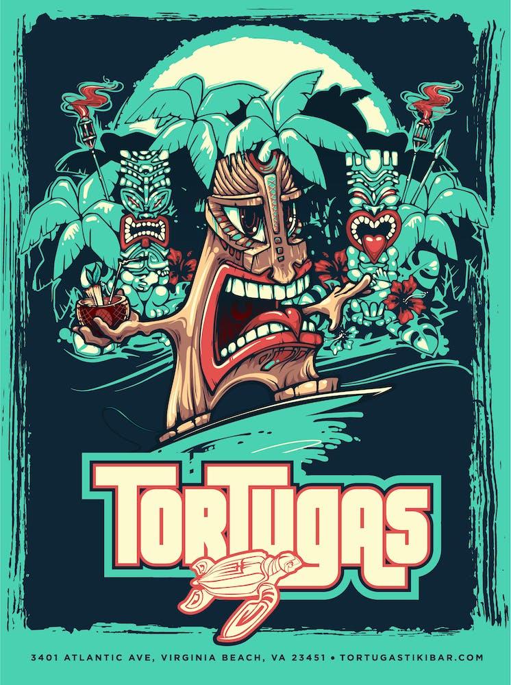 tortugas tiki bar poster
