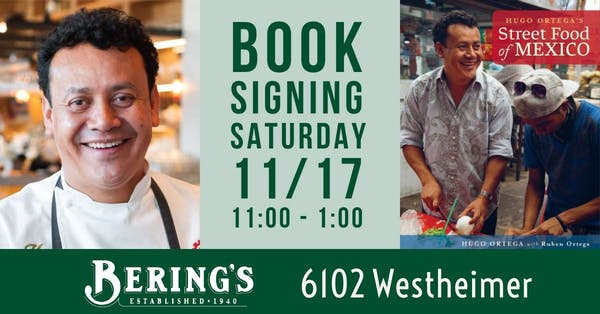 Hugo Ortega's Street Food of Mexico Book Signing