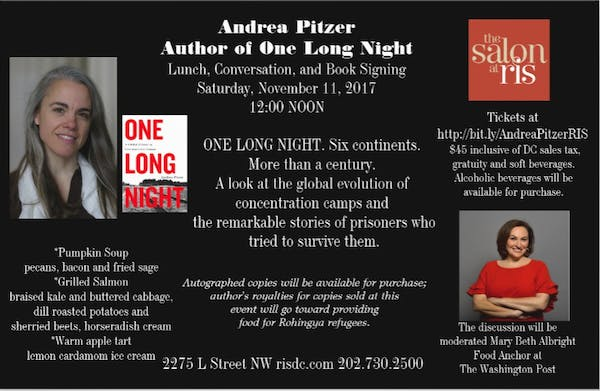 RIS Salon: Book Signing and Lunch with Andrea Pitzer