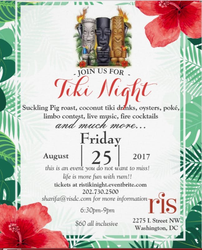 TIKI NIGHT AT RIS!