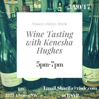 Wine Tasting with Kenesha Hughes: March 20th