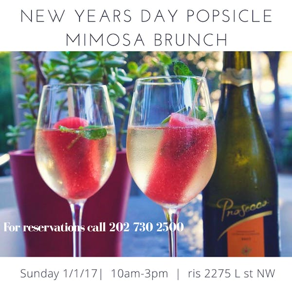 New Years Day Popsicle Mimosa Brunch!