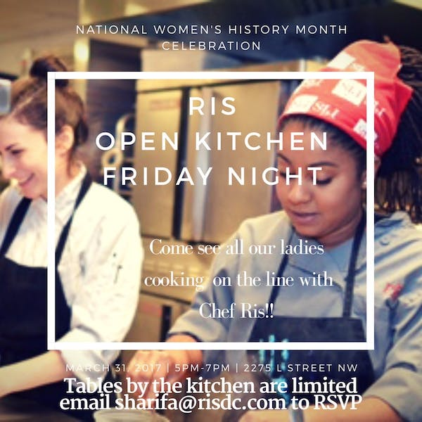 Open Kitchen with Chef Ris: March 31