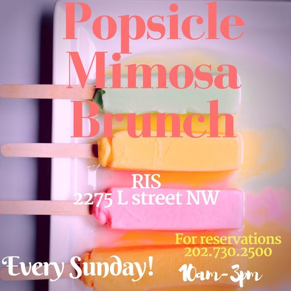 Popsicle Mimosa Brunch