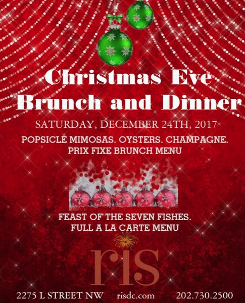 christmas brunch and dinner at ris
