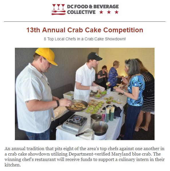 13th Annual DC Crab Cake Competition