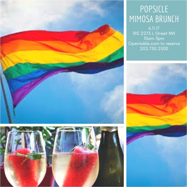 Pride Popsicle Mimosa Brunch