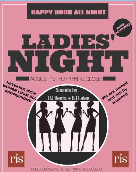 Ladies' Night at RIS with DJ Reets and DJ Lalee