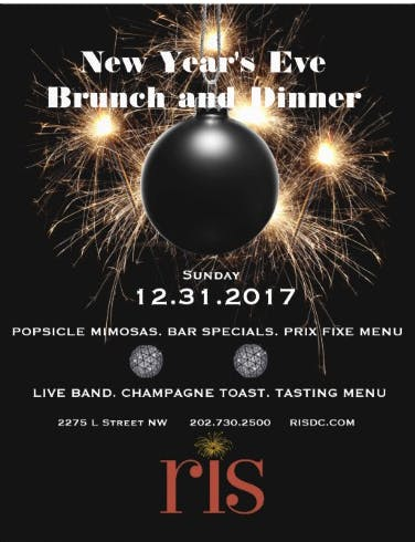 New Year's Eve Brunch and Dinner at RIS!