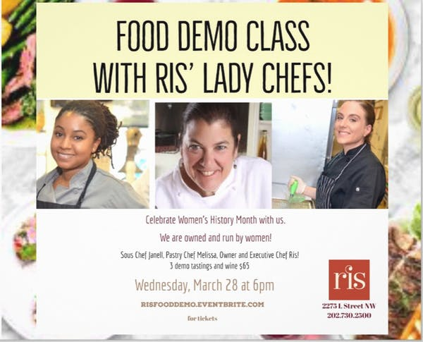 Food Demo with RIS' Lady Chef Team!!