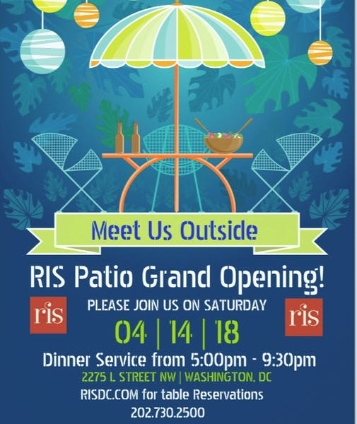 Patio Grand Opening