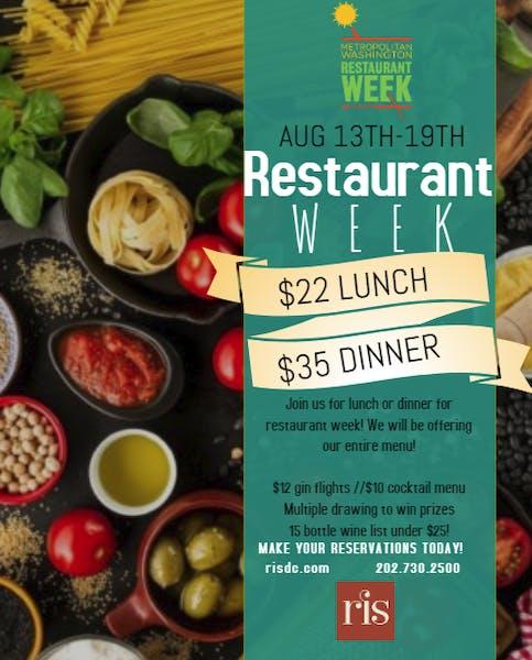 Restaurant Week at RIS!