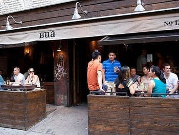 Outdoor patio of Bua