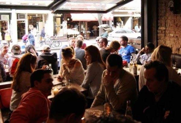 Bua's crowded bar room
