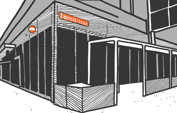 Sketch of the restaurant at at San Jose location