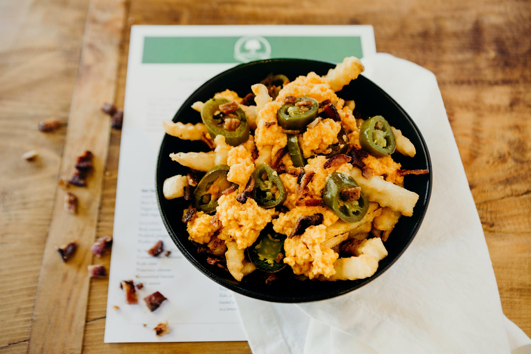 loaded fries with jalapeños