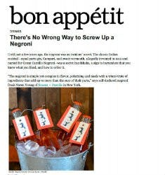 There's No Wrong Way to Screw Up a Negroni | Bon Appétit