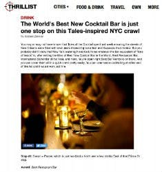 The world's best new cocktail bar is just one stop on this tales-inspired NYC crawl | Thrillist