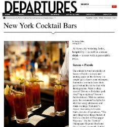 10 New York Cocktail Bars | DEPARTURES