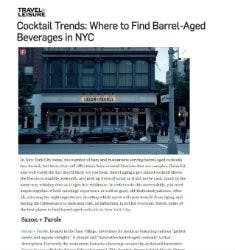 Cocktail Trends: Where to Find Barrel-Aged Beverages in NYC | Travel + Leisure