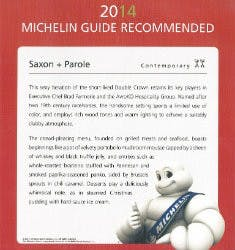 2014 Michelin Guide Recommended
