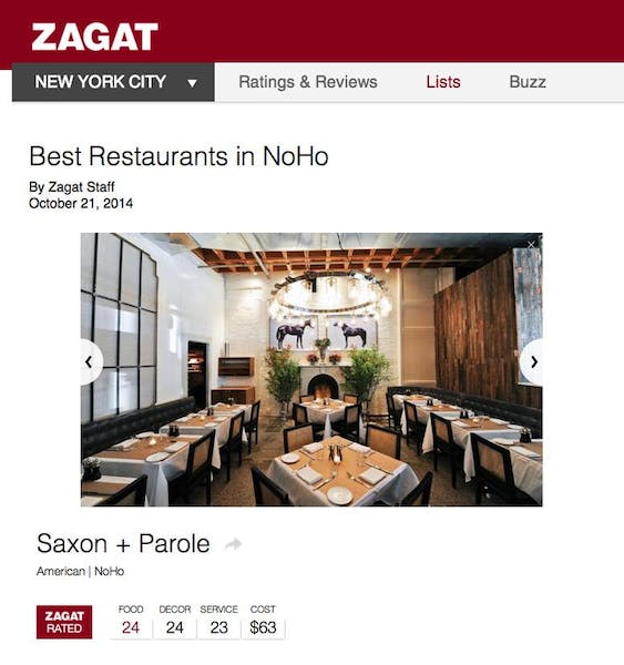 Best Restaurants in Noho | Zagat