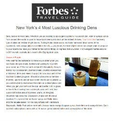 New York's 4 Most Luscious Drinking Dens | Forbes Travel Guide