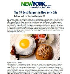 The 10 Best Burgers in New York City | Newyork.com