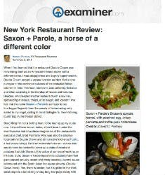 New York Restaurant Review | examiner.com