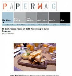 10 Best Foodie Foods Of 2011 | PAPER