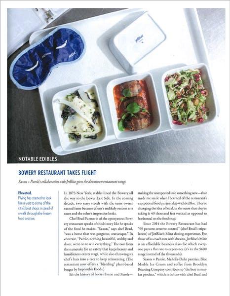 Bowery Restaurant Takes Flight | Edible Manhattan