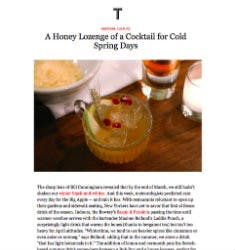 A Honey Lozenge of a Cocktail for Cold Spring Days | T Magazine