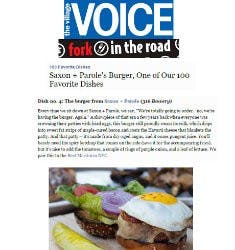 Saxon + Parole's Burger, One of Our 100 Favorite Dishes | The Village Voice