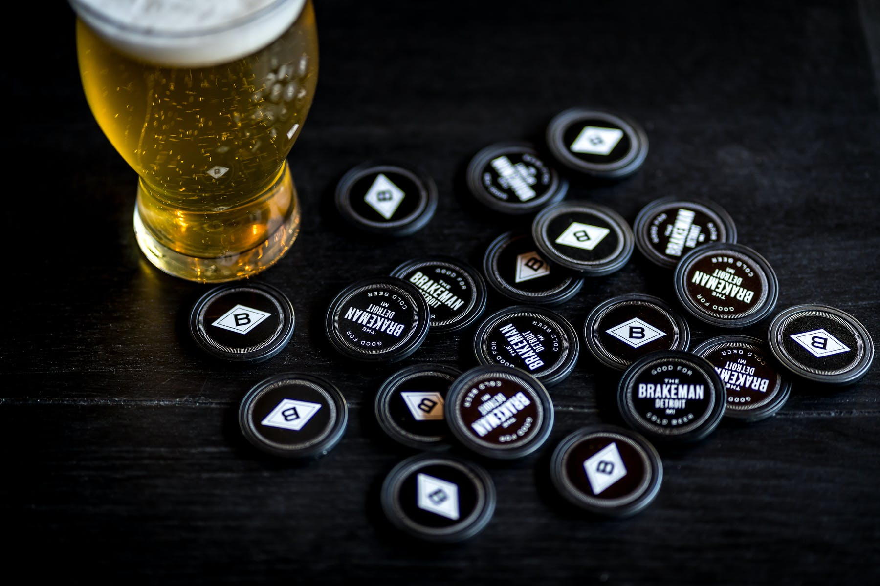 beer with tokens