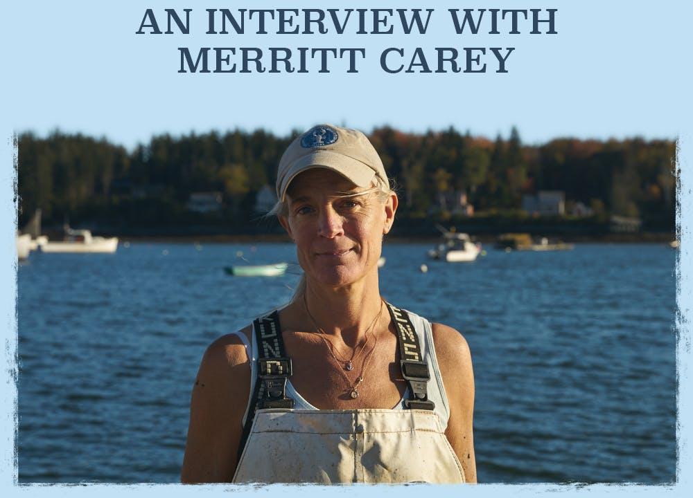 Portrait of Miss May Merritt Carey on the Wharf at Tenants Harbor