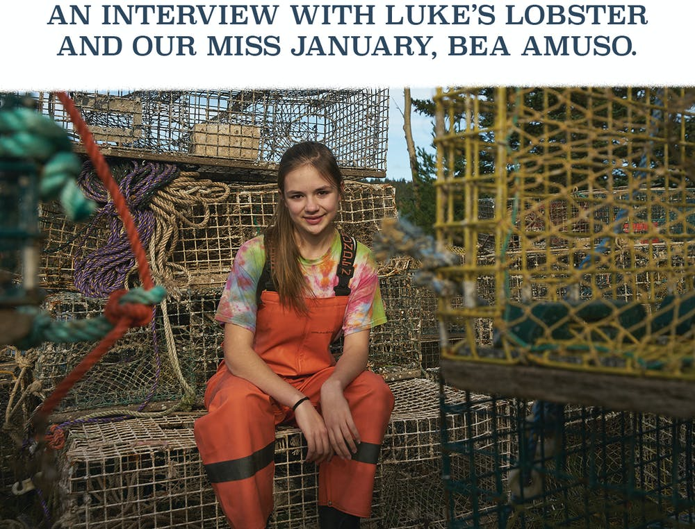 An interview with Luke's Lobster and our miss January, Bea Amuso