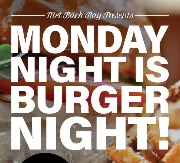 Monday Burger Night!!!