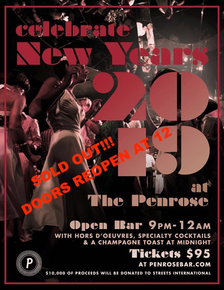 New Year's Eve at The Penrose: click here