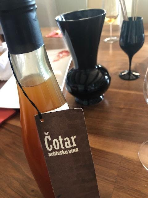 Cotar Winery wine bottle