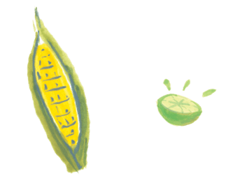 Corn and Lime Illustration