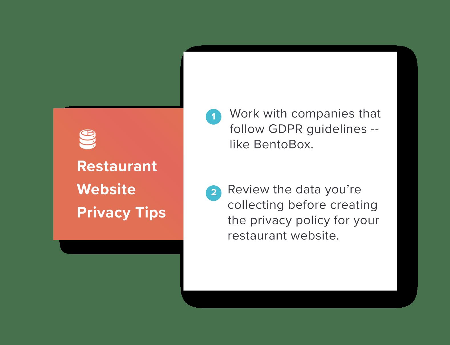 Online Privacy And Restaurant Websites Bentobox