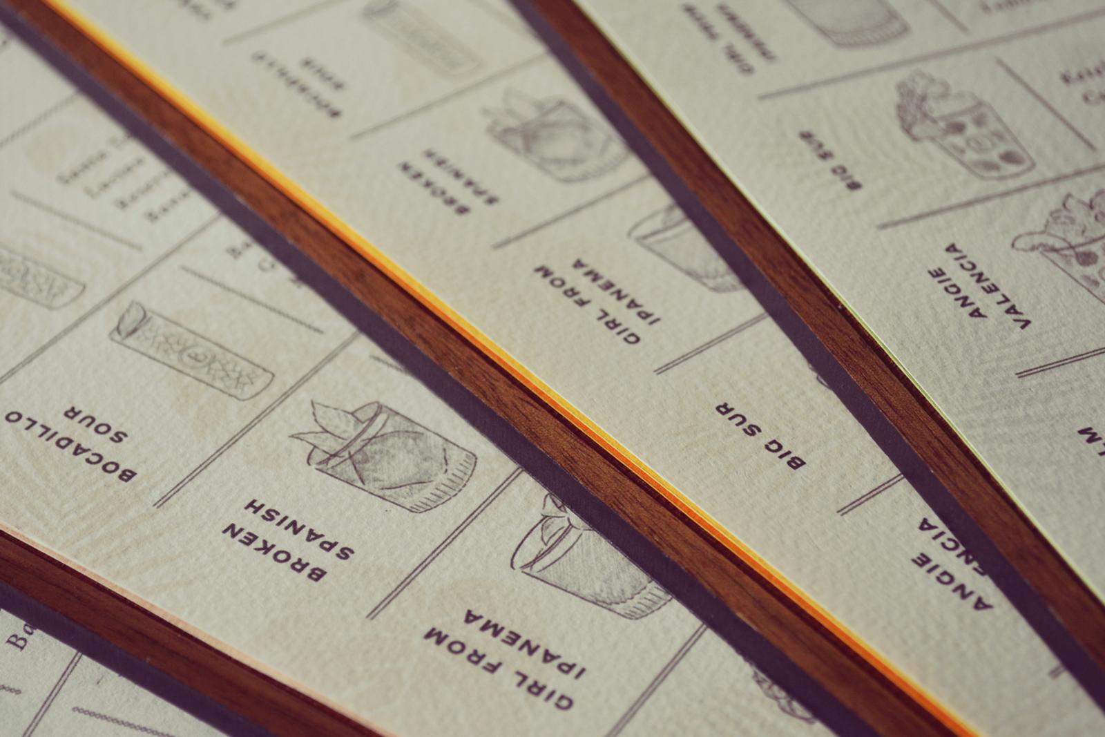 Vimana Creative's design for Blossom Bar's menus
