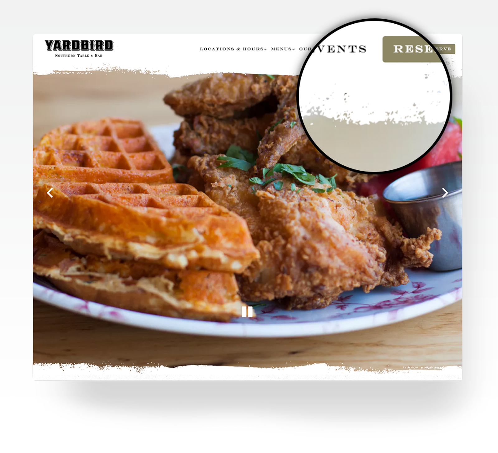 Yardbird's website