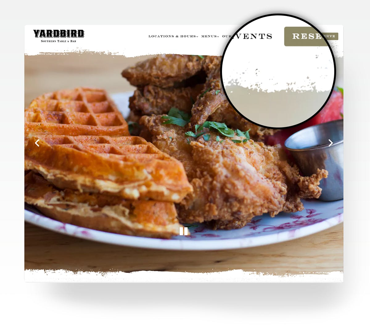 Yardbird's website
