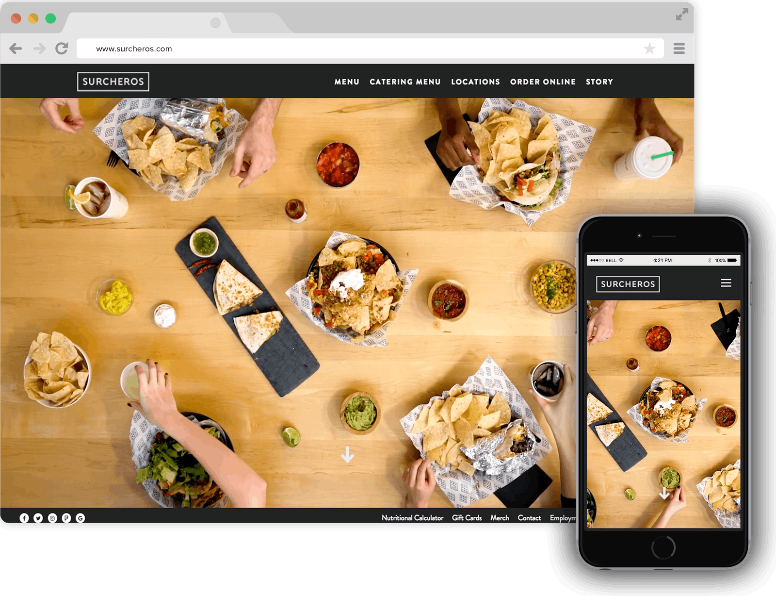 Surcheros Restaurant Website