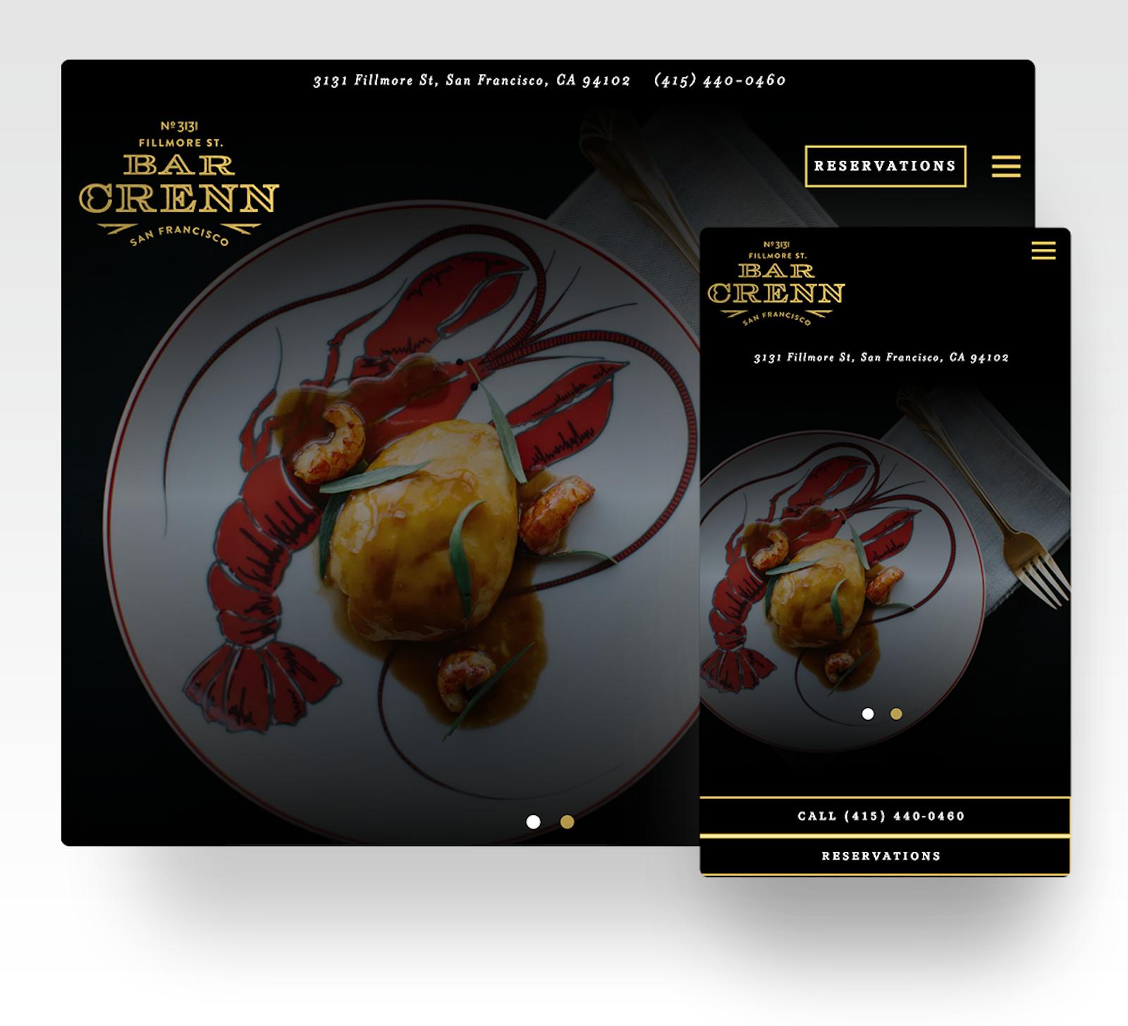 Bar Crenn website