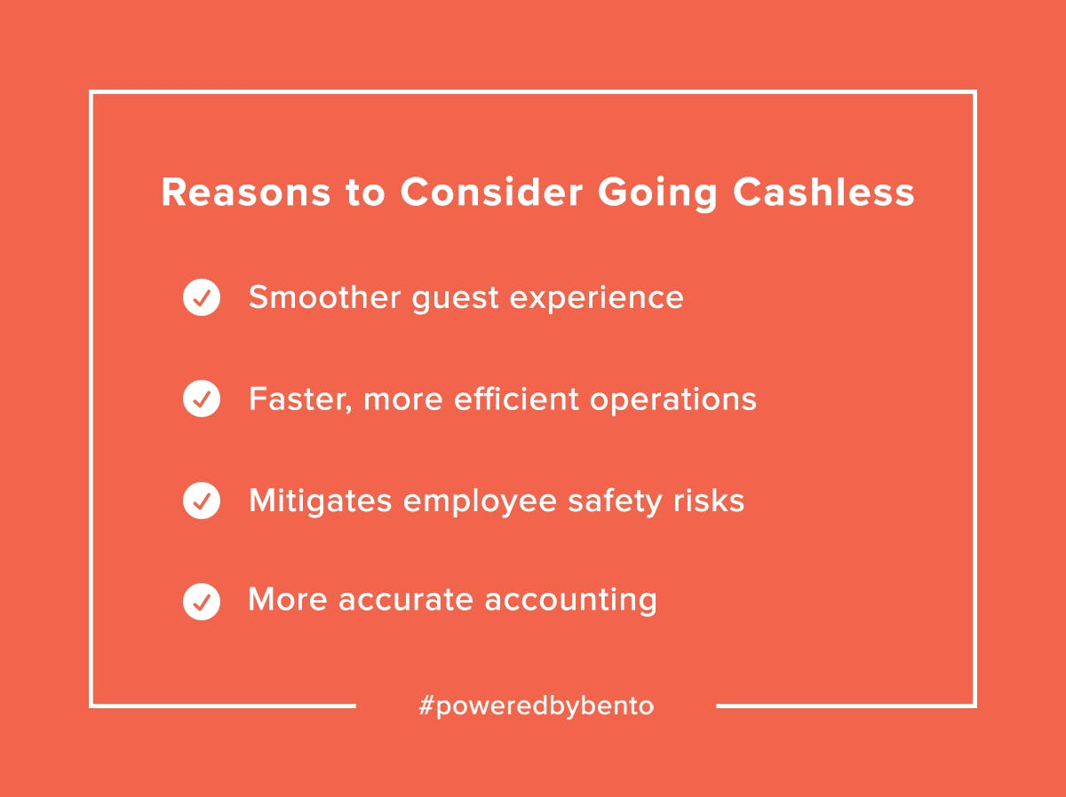 Pros of Being Cashless Checklist