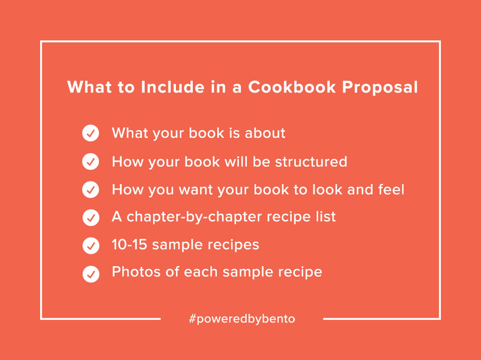 Cookbook Proposal Checklist