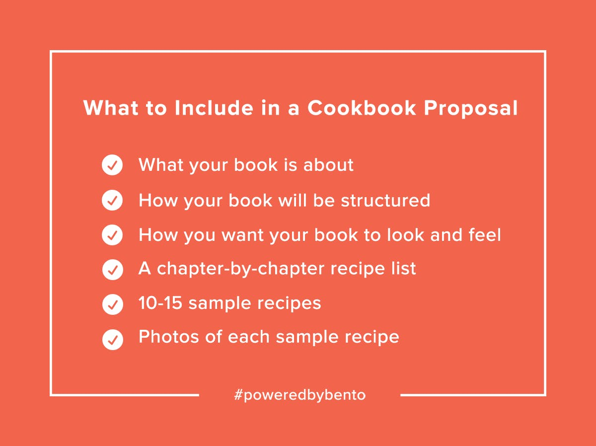 Cookbook Proposal Checklist