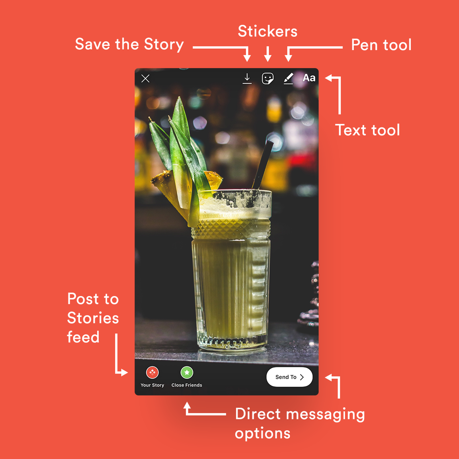 Features and tools on Stories